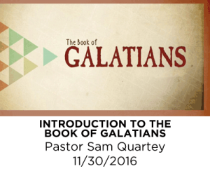 Introduction the the Book of Galatians