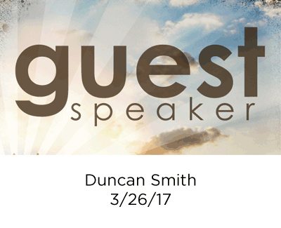 Guest Speaker - Duncan Smith