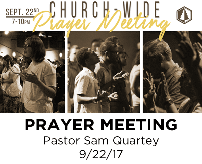 Prayer Meeting - Pastor Sam Quartey