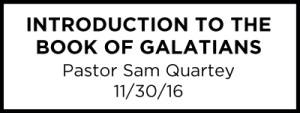Introduction to the Book of Galatians